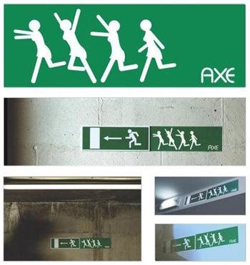 AXE-Guerilla-Kampagne