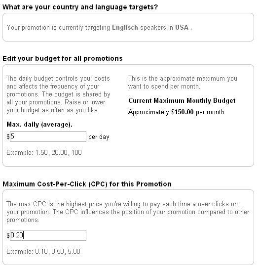 YouTube-Werbung: Budget
